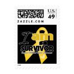 Childhood Cancer - I am a Survivor Stamps