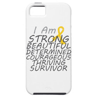 Childhood Cancer I Am Strong Survivor iPhone 5 Covers