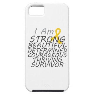 Childhood Cancer I Am Strong Survivor iPhone 5 Cases