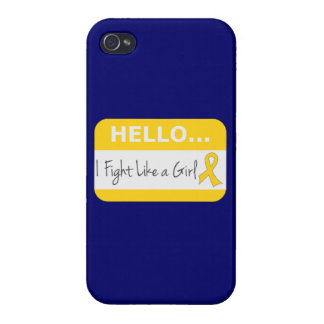Childhood Cancer I Fight Like a Girl iPhone 4 Cover