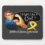Childhood Cancer I Fight Like a Girl Rosie Riveter Mouse Pad