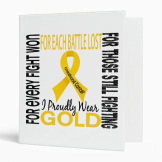 Childhood Cancer I Proudly Wear Gold 2 Binders