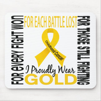 Childhood Cancer I Proudly Wear Gold 2 Mouse Pad