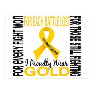 Childhood Cancer I Proudly Wear Gold 2 Postcard