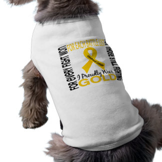 Childhood Cancer I Proudly Wear Gold 2 Tee