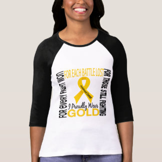 Childhood Cancer I Proudly Wear Gold 2 Tees