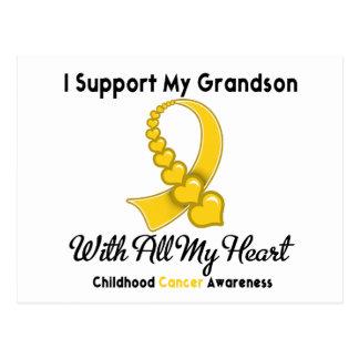 Childhood Cancer I Support My Grandson Postcard
