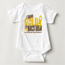 Childhood Cancer I WEAR GOLD FOR MY BROTHER 6.3 Baby Bodysuit