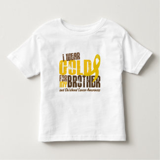 Childhood Cancer I WEAR GOLD FOR MY BROTHER 6.3 Toddler T-shirt