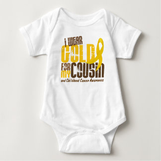Childhood Cancer I WEAR GOLD FOR MY COUSIN 6.3 Baby Bodysuit