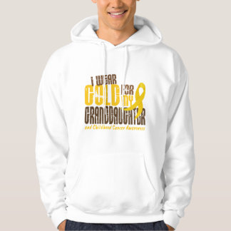 Childhood Cancer I WEAR GOLD FOR MY GRANDDAUGHTER Hooded Pullover