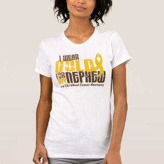 Childhood Cancer I WEAR GOLD FOR MY NEPHEW 6 3 Tshirts