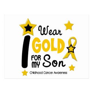 Childhood Cancer I Wear Gold For My Son 12 Postcard