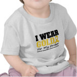 Childhood Cancer I Wear Gold Ribbon Brother T-shirts