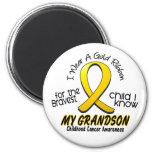 Childhood Cancer I Wear Gold Ribbon For Grandson Magnet