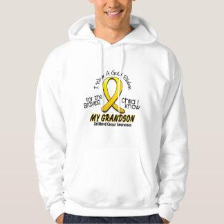 Childhood Cancer I Wear Gold Ribbon For Grandson Sweatshirt