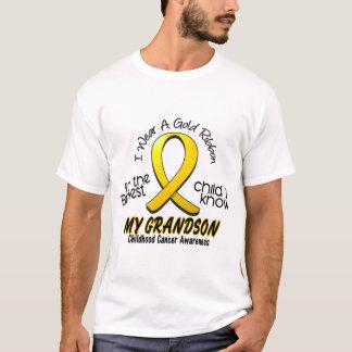 Childhood Cancer I Wear Gold Ribbon For Grandson T-Shirt