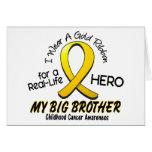 Childhood Cancer I Wear Gold Ribbon For My Brother Greeting Card