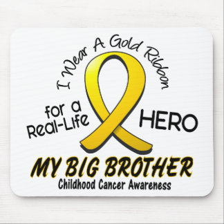 Childhood Cancer I Wear Gold Ribbon For My Brother Mouse Mat