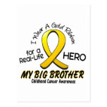 Childhood Cancer I Wear Gold Ribbon For My Brother Post Card