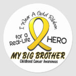 Childhood Cancer I Wear Gold Ribbon For My Brother Stickers