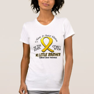 Childhood Cancer I Wear Gold Ribbon For My Brother Tees