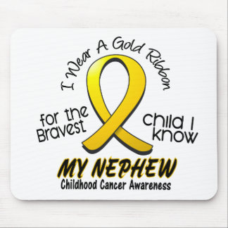 Childhood Cancer I Wear Gold Ribbon For My Nephew Mouse Mat