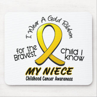 Childhood Cancer I Wear Gold Ribbon For My Niece Mouse Pad