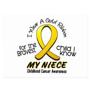 Childhood Cancer I Wear Gold Ribbon For My Niece Postcard