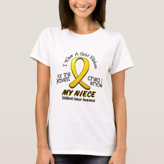 Childhood Cancer I Wear Gold Ribbon For My Niece T-Shirt