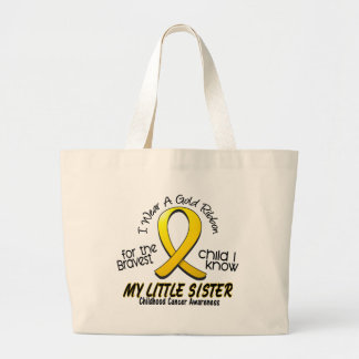 Childhood Cancer I Wear Gold Ribbon For My Sister Jumbo Tote Bag