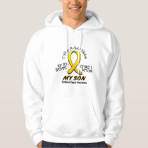 Childhood Cancer I Wear Gold Ribbon For My Son Hoodie