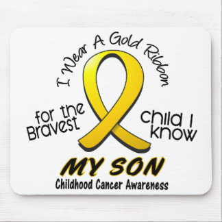 Childhood Cancer I Wear Gold Ribbon For My Son Mouse Pad