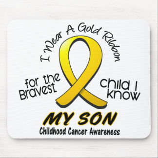 Childhood Cancer I Wear Gold Ribbon For My Son Mouse Mat