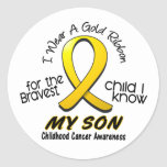 Childhood Cancer I Wear Gold Ribbon For My Son Sticker