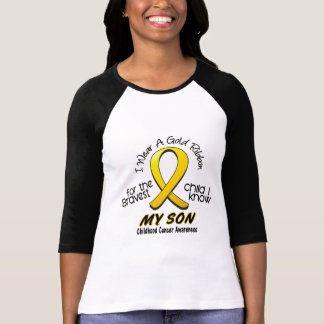 Childhood Cancer I Wear Gold Ribbon For My Son T-Shirt