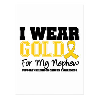 Childhood Cancer I Wear Gold Ribbon Nephew Post Card