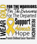 Childhood Cancer I Wear Gold Ribbon TRIBUTE T-Shirt