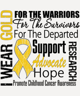 Childhood Cancer I Wear Gold Ribbon TRIBUTE Shirt