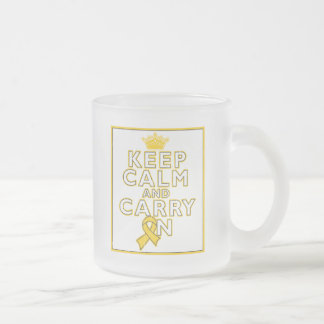 Childhood Cancer Keep Calm and Carry ON Mugs