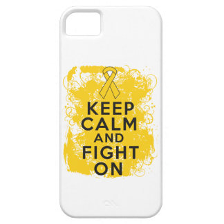 Childhood Cancer Keep Calm and Fight On iPhone 5 Covers