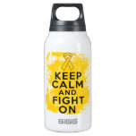 Childhood Cancer Keep Calm and Fight On 10 Oz Insulated SIGG Thermos Water Bottle