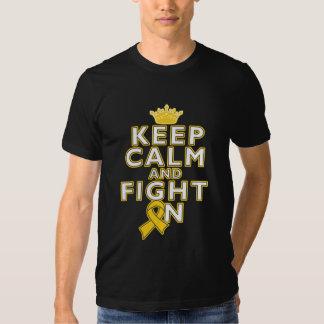Childhood Cancer Keep Calm Fight On Tee Shirt