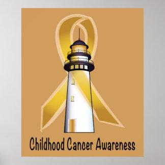 Childhood Cancer Lighthouse of Hope Poster