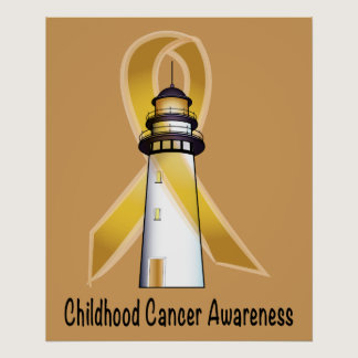 Childhood Cancer Lighthouse of Hope Poster