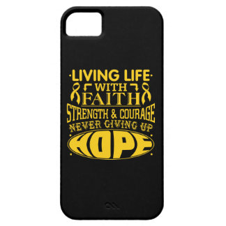 Childhood Cancer Living Life with Faith iPhone 5 Case