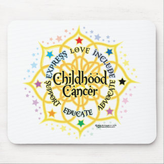 Childhood Cancer Lotus Mouse Pad