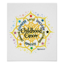 Childhood Cancer Lotus Poster