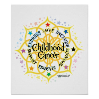 Childhood Cancer Lotus Posters