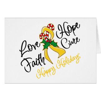 Childhood Cancer Love Hope Holidays Card